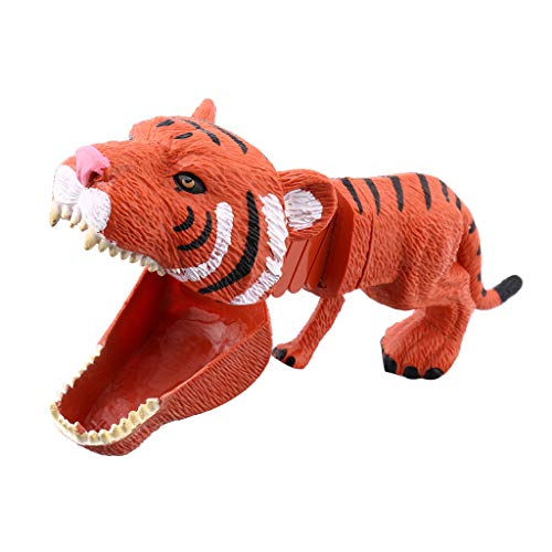jiumoji Plastic Tiger Wild Animal Figures Game Toy Funny Party Favors for Novelty Boys Girls Kid's Best Gift (-Brown, 20cm9cm6cm)