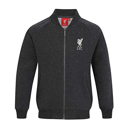 Liverpool FC - Jungen College-Jacke im Retro-Design - Offizielles Merchandise - Geschenk für Fußballfans - Anthrazitgrau - 2-3 Jahre
