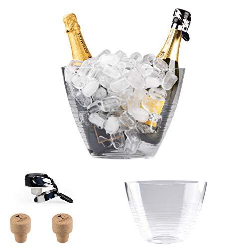 Spumantiera glacette media by Hungrycircle® Wine room, deisgn e qualità Italiana per questa boule portaghiaccio, pefetta temperatura per le vostre bottiglie di vino spumante champagne birra ecc.