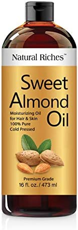 Natural Riches Sweet Almond Oil Cold Pressed Triple A Grade Pure and Natural Hexane free Soothing product image