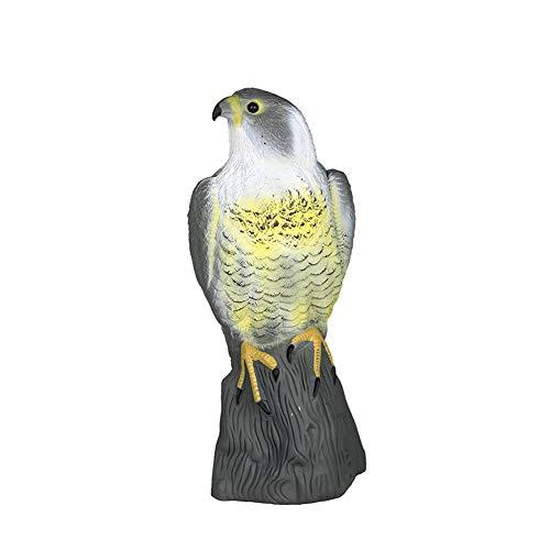 Vogelschreck Adler Figur Horror realista de águilas Falsas Control de aves para el Jardín alrededor de Pájaros, Balcón, terraza Para evitar Pájarosy Plagas (Negro, Talla única)
