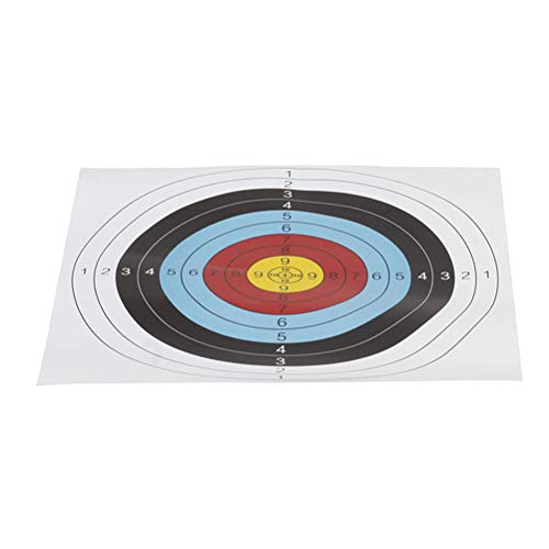 Abaodam 20 piezas de 40 x 40 cm de papel de tiro con arco objetivo objetivos accesorios para partidos de práctica diaria uso al aire libre