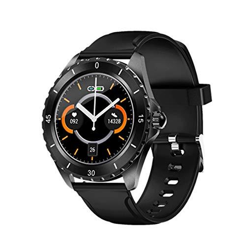KMF S09 Plus Smart Watch BT5.0 IP68 Presión Arterial Impermeable/Ritmo cardíaco/Monitor de sueño Notificación de Tiempo Recordatorio Reloj Inteligente,A