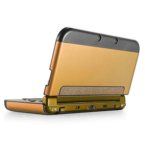 TNP New 3DS Funda (Oro) - Plástico + Aluminio Full Body - carcasa rígida con carcasa para New Nintendo 3DS 2015