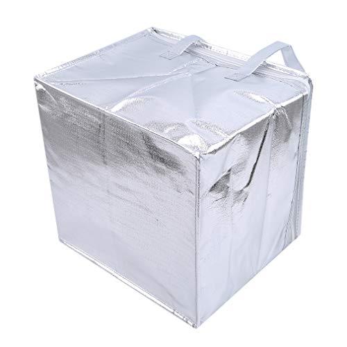 SUNSKYOO Isolierte Handtasche e Kuchen Frischhaltetasche Picknick Kühler Tragetasche, 8 Zoll Doppelschicht 32 * 32 * hoch 27