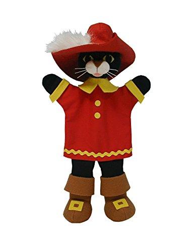 ABA aba7117033cm Rojo Gato Botas marioneta Mano