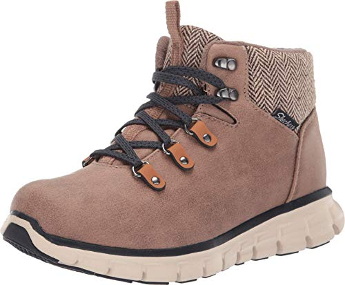 Skechers Women's Synergy-Mountain Dreamer Chukka Boot, Taupe, 6.5 M US
