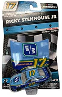 NASCAR Authentics Ricky Stenhouse Jr. #17 Diecast Car 1/64 Scale - 2019 Wave 3 with Free Hood - Collectible