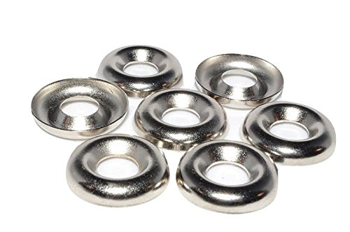 The best fasteners 1000 1//4 Nickel Plated Countersunk//Cup Finishing Washers