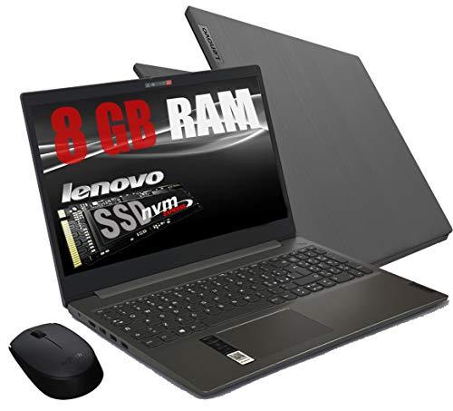 Notebook Lenovo Grey Ram 8 Gb DDR4 SSD M.2 PCi da 256Gb cpu Amd A4 3020 New Gen.  Display Hd da 15,6 pollici  Open Office 2019   web cam, 3usb hdmi bt Windows 10 Pro  Pronto All uso+ Mouse Wifi