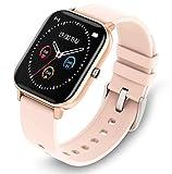 GetPlus Smartwatch Reloj Inteligente para Mujer - Pulsera Monitor de Actividad Deportivo Digital para Android y iOS - Smart Watch con Bluetooth y GPS Rosa-Crema