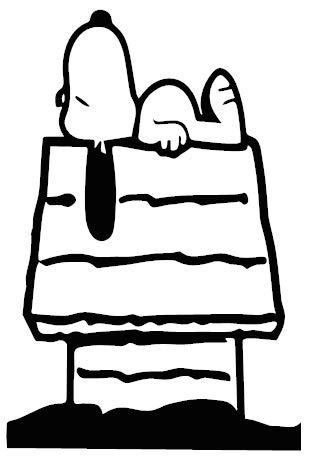 1st-Class-Designs Aufkleber Snoopy und Hundehütte, 15,2 x 10,2 cm, in jeder Farbe erhältlich