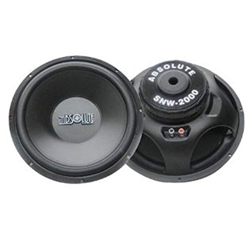 Absolute USA SN2000 15-Inch Component Sub Woofer 2000-Watts Peak Maximum