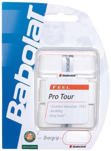 Babolat–Pack de 3Pro Tour Overgrip, Color Blanco,...