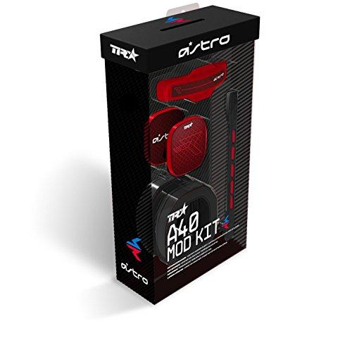 ASTRO Gaming A40 TR Mod Kit para Auriculares Gaming, Gen 3, Microfóno y Almohadillas con Aislamiento de Ruido, Etiquetas Posteriores Cerradas, Mod Kit,Rojo