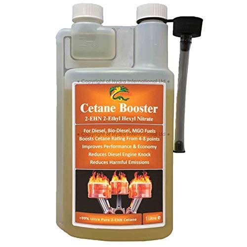 HYDRA Fuel Cetane Booster - Aditivo Mejorador De Cetano Para Combustible Diésel; Aditivo 99 % 2E HN (Nitrato De 2-Etilhexilo); 1 Litros Tratan Hasta 1000 Litros De Combustible