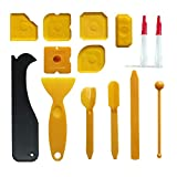 Silicone Sealant Smoothing Tools, Sealant Smoother Caulk Finishing Profiler Former Applicator for Bathroom, 14 Pieces