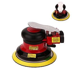 Professional Air Random Orbital Palm Sander, Dual Action Pneumatic Sander, Low Vibration, Heavy Duty