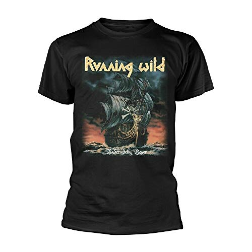 Running Wild Under Jolly Roger Album tee T-Shirt Mens Men's T-Shirt Black L