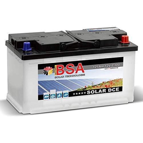 Preisvergleich Produktbild Solar DCE 12V 125Ah Batterie Solarbatterie Versorgungsbatterie Boot Wohnmobil ersetzt 100Ah 120Ah