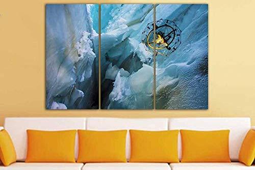Arte Pared Pintura Tríptico Cuadro sobre Lienzo 3 Piezas Impresión en Lienzo Drone Decoración del Hogar Regalo Total 150X70CM