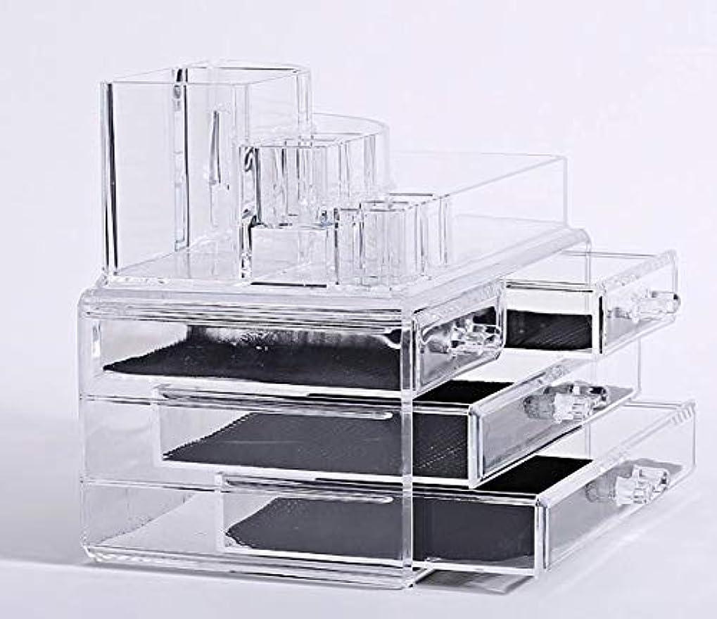 東スキム仮説化粧品収納ボックス メイクケース メイクボックス コスメボックス 騒音なし 防塵 高透明度 強い耐久性 整理簡単 引き出し小物