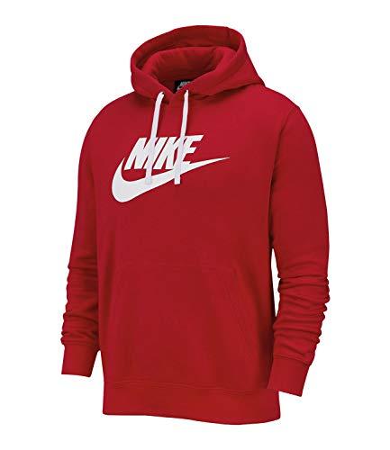 Nike Herren Sportswear Club Fleece Hoodie Rot L