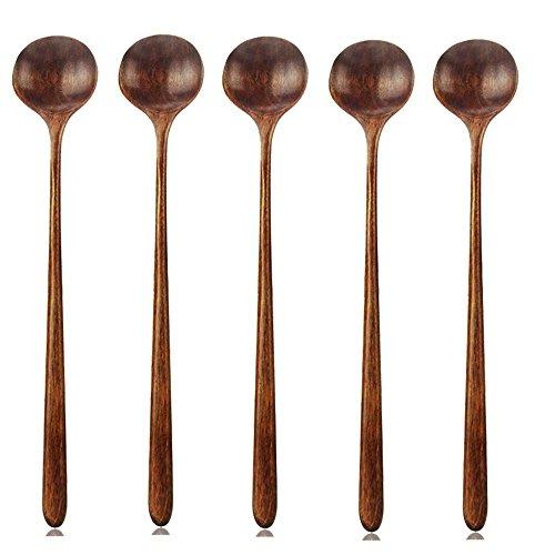 ACAMPTAR lepel van hout, 5 stuks in de stijl Koreaanse stijl, 10,9 inch