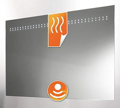 Schaere Badezimmerspiegel LED beleuchtet mit Sensor und Heizung 80x60 cm