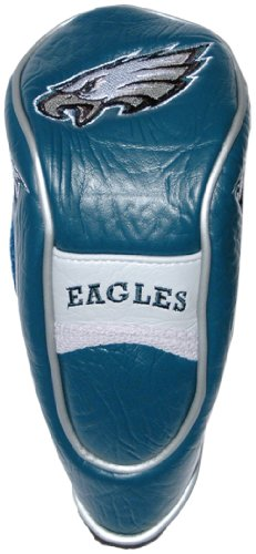 Team Golf NFL Philadelphia Eagles Hybrid Golf Club Headcover, Hook-and-Loop Closure, Velour Lined for Extra Club Protection