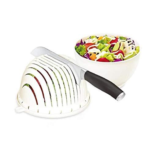 BYFRI Salatschneider Schüssel Gemüseschneider Schüssel Salat Maker Kutter Slicer Obst Chopper Korb Gemüsewaschmaschine Server Sieb