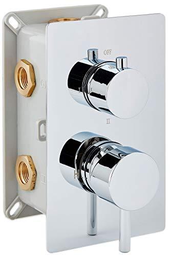 Miscelatore incasso termostatico con corpo a incastro UP13-01 - deviatore a 3 uscite