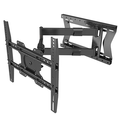 DQ Hercules PRO Turn 80 cm TV Wandhalterung, Langer Arm, bis 80cm Wandabstand, Schwenkbar, Ausziehbar, TV ca. 27-75 Zoll bis 60kg, VESA 100x100 - 400x400mm, TV-Halterung