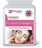 Colágeno marino tipo 1 y tipo 2 1200 mg - 60 cápsulas | Reino Unido Fabricado por Prowise Healthcare