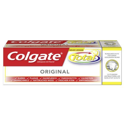 Colgate Total Original Zahnpasta, 6er Pack (6 x 25 ml)