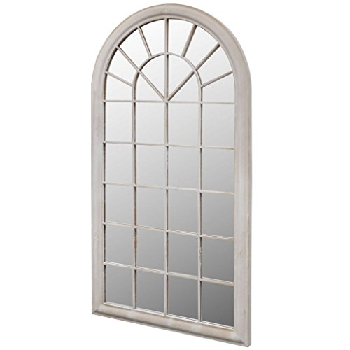 vidaXL Fensterspiegel 116x60cm Wandspiegel Gartenspiegel Dekospiegel Spiegel