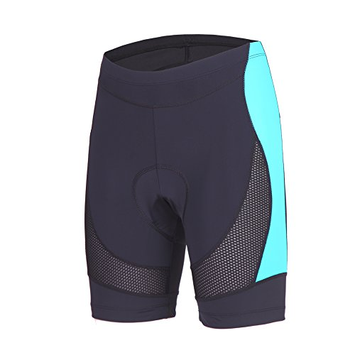 Beroy Womens Bike Shorts with 3D Gel Padded,CYCLING WOMEN'S SHORTS with MeshXXX-LargeDark Blue