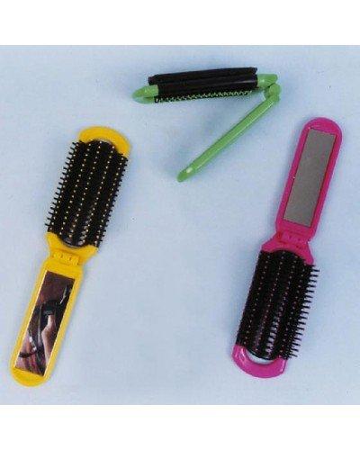 Equilibre et Aventure Brosse à Cheveux (à Picots) Pliante avec Miroir