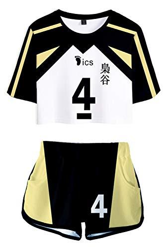 COSJZKUKU Fukurodani Akademie Uniform Bokuto Koutarou Kostüm Anime Volleyball Cosplay Trikot Frauen Cheerleader Verkleidung Gr. XS, weiß