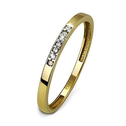 GoldDream Gold Ring 8 Karat Zirkonia weiß Gr.56 333er Gelbgold D3GDR502Y56 Gold, Gelbgold Ringschmuck für die Frau