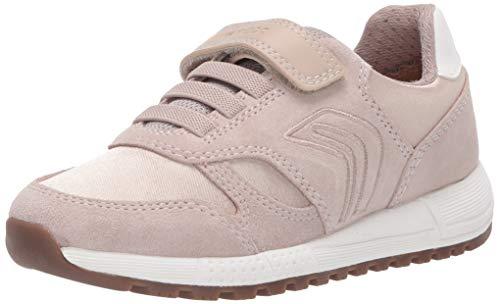 Geox Mädchen J ALBEN Girl A Sneaker, Beige (Beige C5000), 38 EU