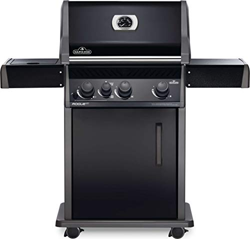 Napoleon RXT425SIBNK-1 Rogue XT 425 SIB Gas Grill, sq. in + Infrared Side Burner, Black