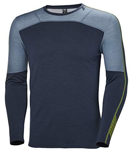 Helly Hansen LIFA MERINO CREW functioneel shirt – lange mouwen 2-in-1 baselayer van merinowol & livavezels – om te wandelen of te skiën – thermoactief sportondergoed voor heren