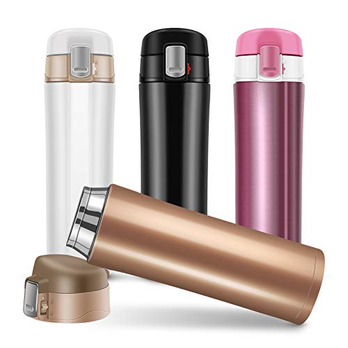 Insulated Water Bottle, Stainless Steel Insulated Water Bottle, Flask for...