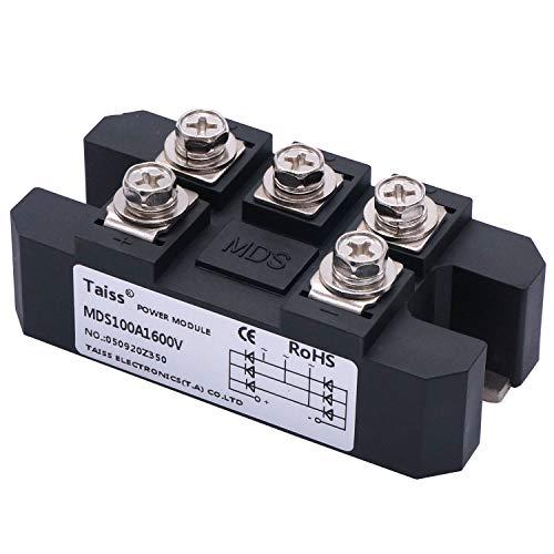 Taiss / 100A 1600V 5 Terminals 3 Phase Diode Module Bridge Rectifier MDS-100A