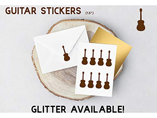 Guistar-Aufkleber, akustische Gitarre, Aufkleber, abnehmbar, Party-Einladung, Umschlag-Aufkleber, Planer-Aufkleber, einfach anzubringen und zu entfernen, leicht anzubringen und zu entfernen