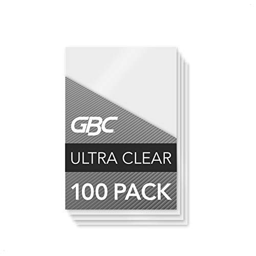 GBC Thermal Laminating Sheets / Pouches, ID Card Size, 5 Mil, Heat Seal Ultra Clear, 100 Pack (56005)