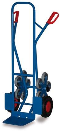 Stahlrohr Treppenkarre mit 2 fünfarmigen Radstern 200 kg, Luftbereiftbereift,