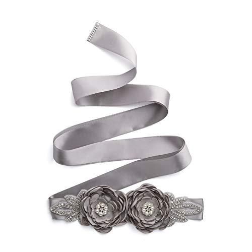CHIC DIARY Cinturón de mujer para vestido de novia, cinturón de flores...