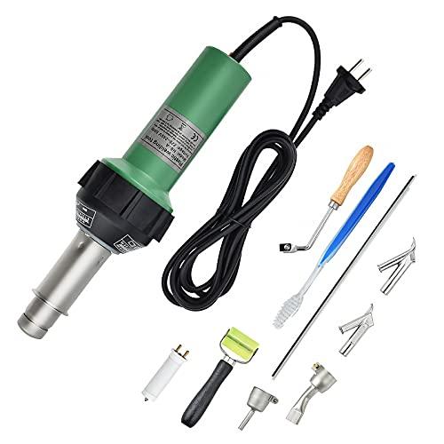 S SMAUTOP Soudure plastique air chaud,1600W Pistolet à Air Chaud 40°C-600°C Adjustable Temperature